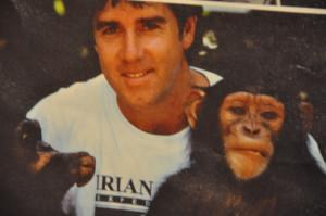 Scott with Monkeys